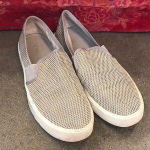 Vince Grey Mesh Slip On Sneakers